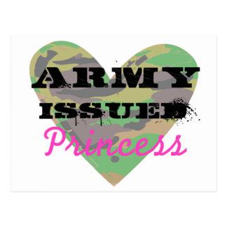 El ejército publicó a la princesa postal