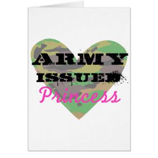 El ejército publicó a la princesa tarjeta de felicitación