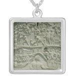 El ejército romano que cruza el Danubio Colgante Cuadrado