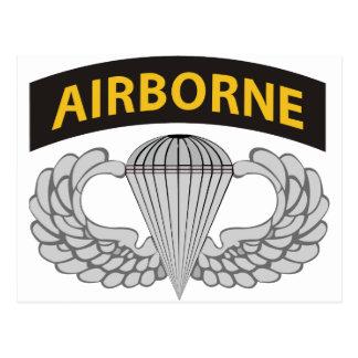 El ejército salta las alas W/Tab Postal