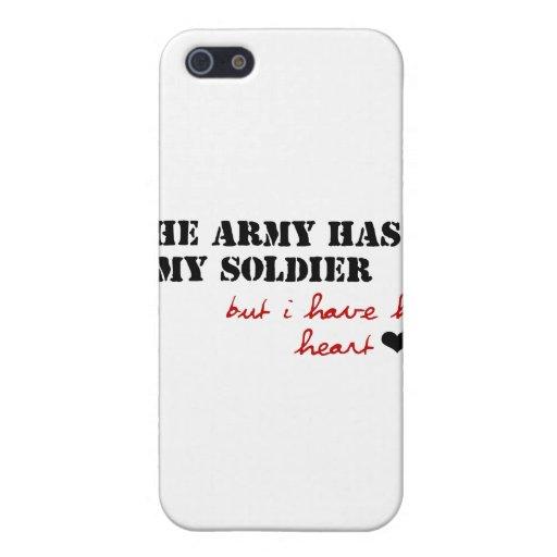 El ejército tiene mi soldado, pero tengo su corazó iPhone 5 carcasa