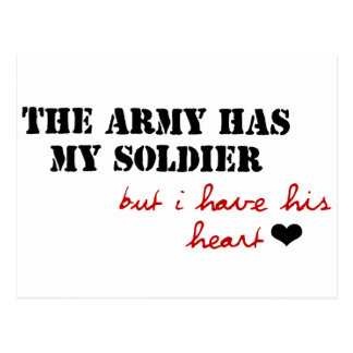 El ejército tiene mi soldado, pero tengo su corazó postal