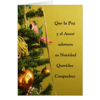 El EL Amor de Que La Paz y adornen a su Navidad Tarjeta De Felicitación