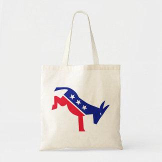 El el blanco rojo del burro de Democrate y azul Bolsas
