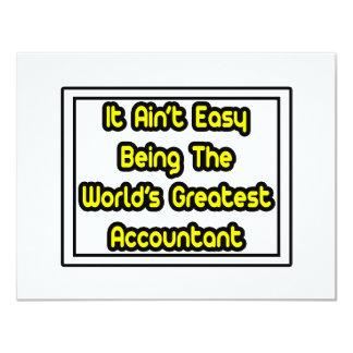 """Él el contable más grande… del mundo fácil de Aint Invitación 4.25"""" X 5.5"""""""