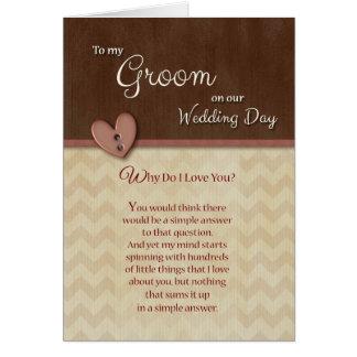 El el día de boda para preparar porqué lo haga te tarjeta de felicitación