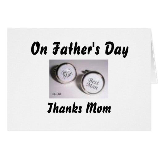 El el día de padre, mamá de las gracias tarjeta de felicitación