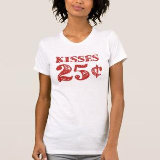 El el día de San Valentín besa 25 centavos Remera