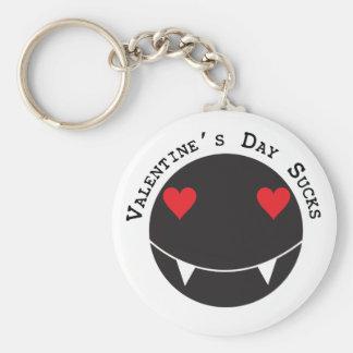 El el día de San Valentín chupa Llavero Redondo Tipo Pin