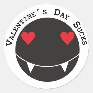 El el día de San Valentín chupa Pegatina Redonda