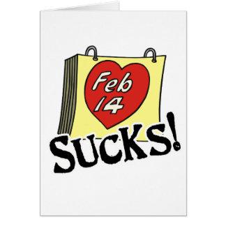 El el día de San Valentín chupa Felicitaciones