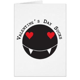 El el día de San Valentín chupa Tarjeta De Felicitación