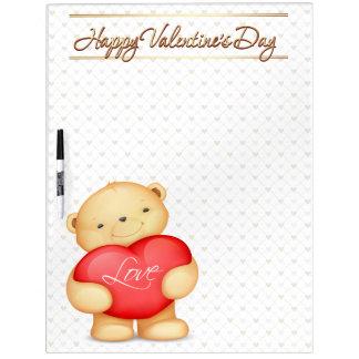 El el día de San Valentín feliz lleva las opciones Pizarra