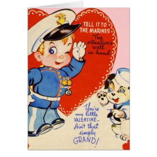 El el día de San Valentín militar retro de los E E