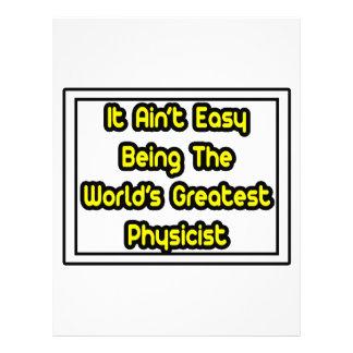 Él el físico más grande… del mundo fácil de Aint Membrete A Diseño