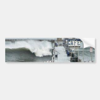 El EL Nino agita gaviotas del océano de los embarc Etiqueta De Parachoque