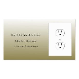 El electricista/el oro eléctrico del contratista tarjetas de visita
