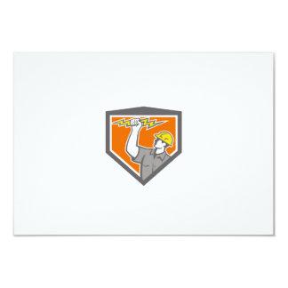 """El electricista maneja el escudo lateral del rayo invitación 3.5"""" x 5"""""""