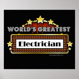 El electricista más grande del mundo póster