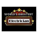 El electricista más grande del mundo tarjeta