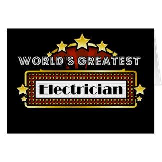 El electricista más grande del mundo tarjeta de felicitación