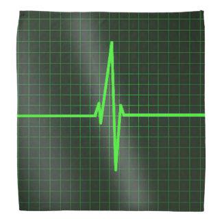 El electrocardiograma agita pañuelo bandanas
