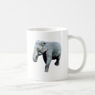 El elefante 1p de Indochina endereza Taza Básica Blanca