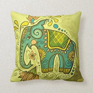 El elefante azul cojín decorativo