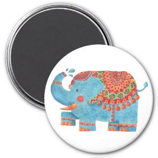 El elefante azul imán de nevera