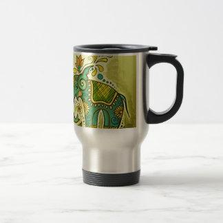 El elefante azul taza de viaje