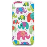El elefante colorido embroma el caso del iphone 5  iPhone 5 protector