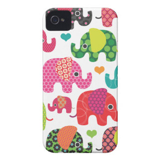 El elefante colorido embroma el caso del iphone iPhone 4 cobertura