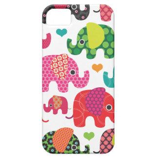 El elefante colorido embroma el caso del iphone iPhone 5 carcasas