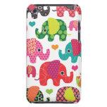 El elefante colorido embroma la caja de iPod del m Case-Mate iPod Touch Protector