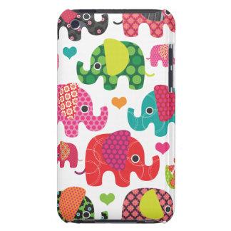 El elefante colorido embroma la caja de iPod del m iPod Case-Mate Fundas
