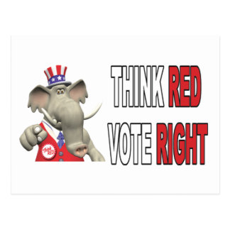 El elefante de Sam piensa la derecha roja del voto Postal
