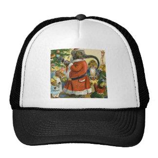 El elefante de Santa celebra el navidad animal Gorros Bordados