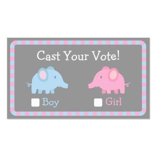 El elefante del bebé, género revela el fiesta, tarjetas de visita