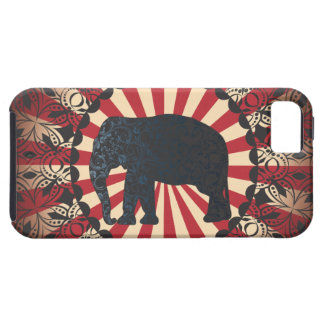 El elefante del circo del vintage de Stella libera iPhone 5 Carcasas
