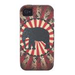 El elefante del circo del vintage de StellaRoot li iPhone 4/4S Fundas