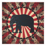 El elefante del circo del vintage libera el mandar poster