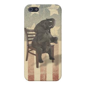 El elefante del GOP asume el control al iPhone 5 Fundas