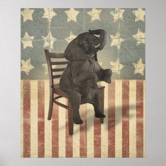 El elefante del GOP asume el control el político d Posters