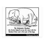 El elefante entusiasta tarjeta postal