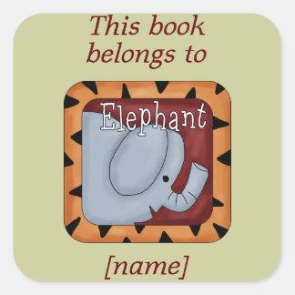 El elefante este libro pertenece al pegatina de la