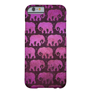 El elefante gastado siluetea el modelo, púrpura funda de iPhone 6 barely there