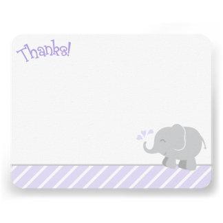 El elefante le agradece las tarjetas de nota el |  comunicado