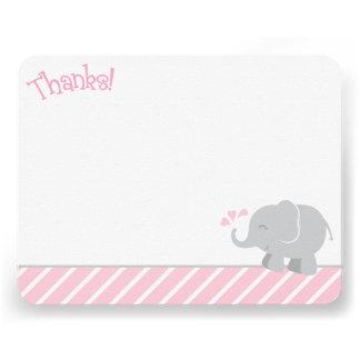 El elefante le agradece las tarjetas de nota el invitación personalizada