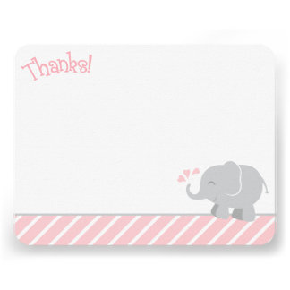 El elefante le agradece las tarjetas de nota el anuncios