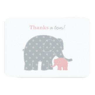El elefante le agradece las tarjetas de nota invitación 8,9 x 12,7 cm